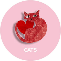 Shop all Erstwilder Cat Brooch, Earring and Necklace Designs