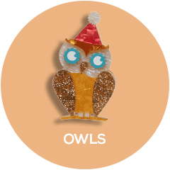 Shop all Erstwilder Owl Brooch, Earring and Necklace Designs