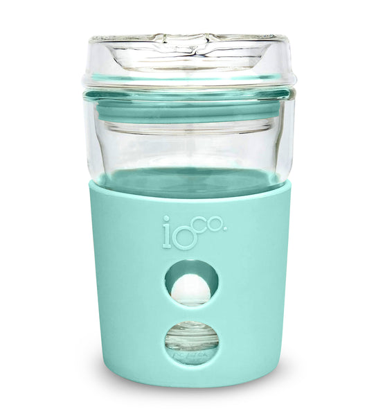 IOCO ALL GLASS 8oz Coffee Traveller - Stone