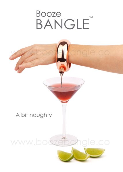 Booze Bangle in Rose Gold