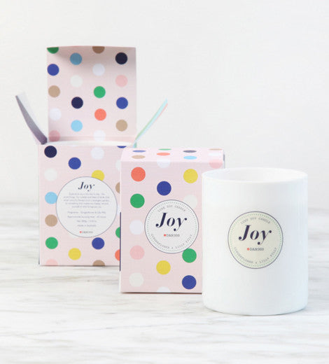 Luxe Candle JOY  - Gingerflower & Lilly Pilly