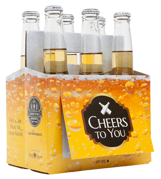Cheers To You - Wooden Beer Caddy & Gift Card