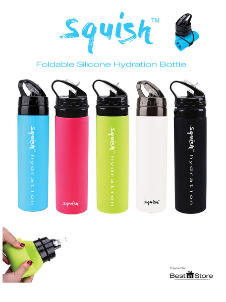 Squish Foldable Bottle in Aqua