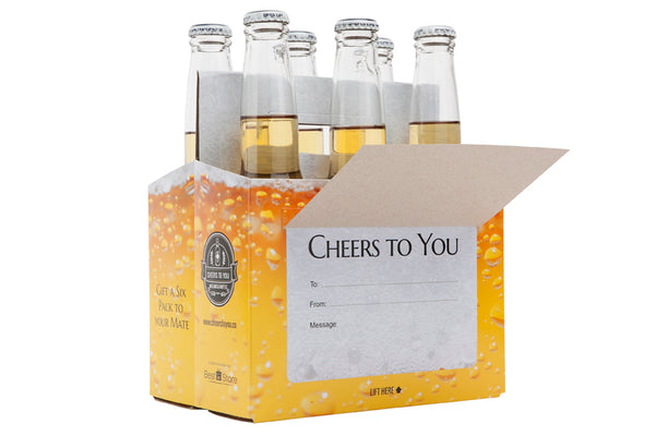 Cheers To You - Beer Bubbles Beer Caddy & Gift Card