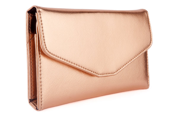 ioco RFID Blocking Travel Wallet in Gold