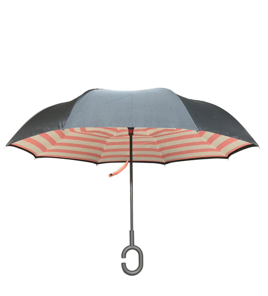 ioco Reverse Umbrella in Pink Rose