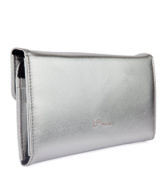 ioco RFID Blocking Travel Wallet in Silver