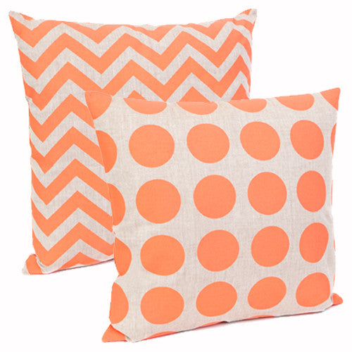Dandelion & Stripe (double sided) - Neon Pink Cushion