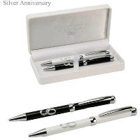 25th Silver Anniversary Pen Set