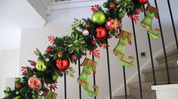 Staircase Garland Design My Christmas