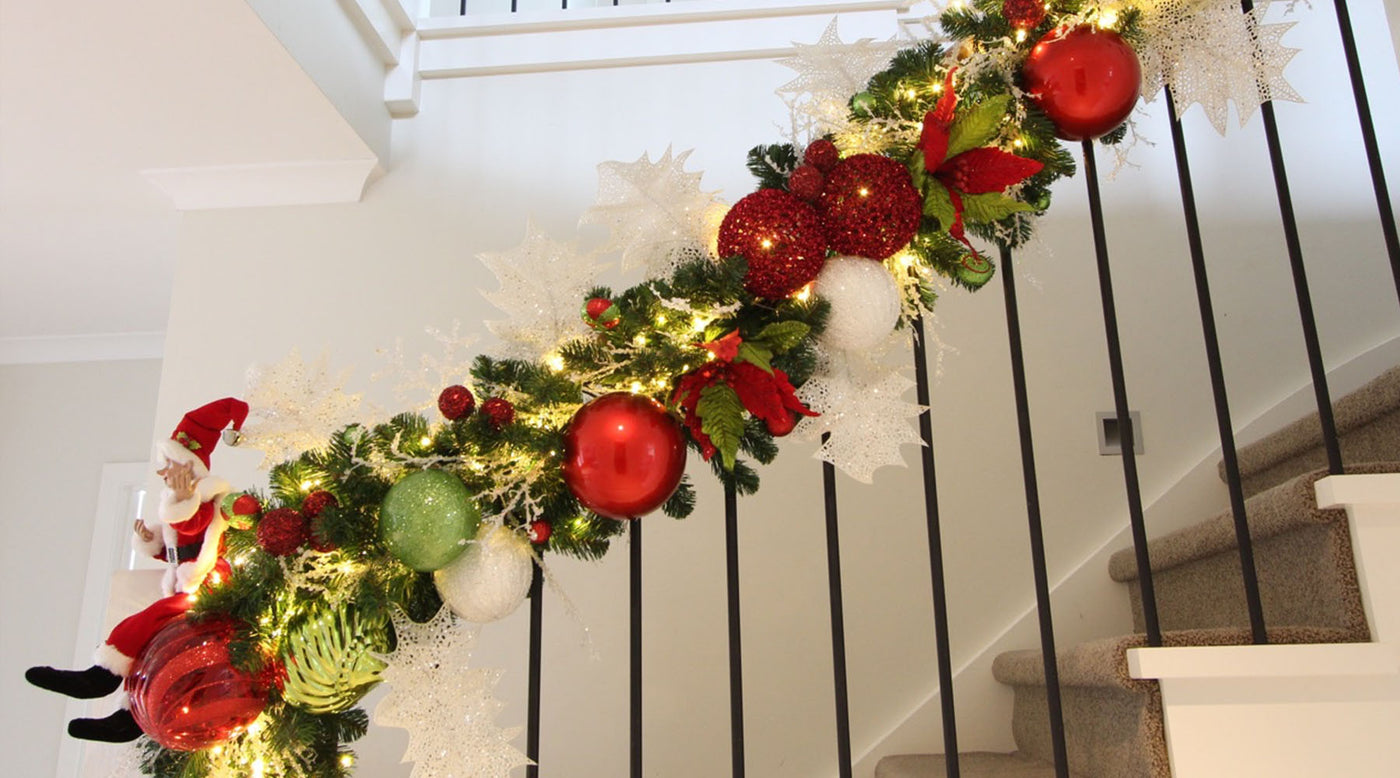How To Make A Staircase Garland My Christmas