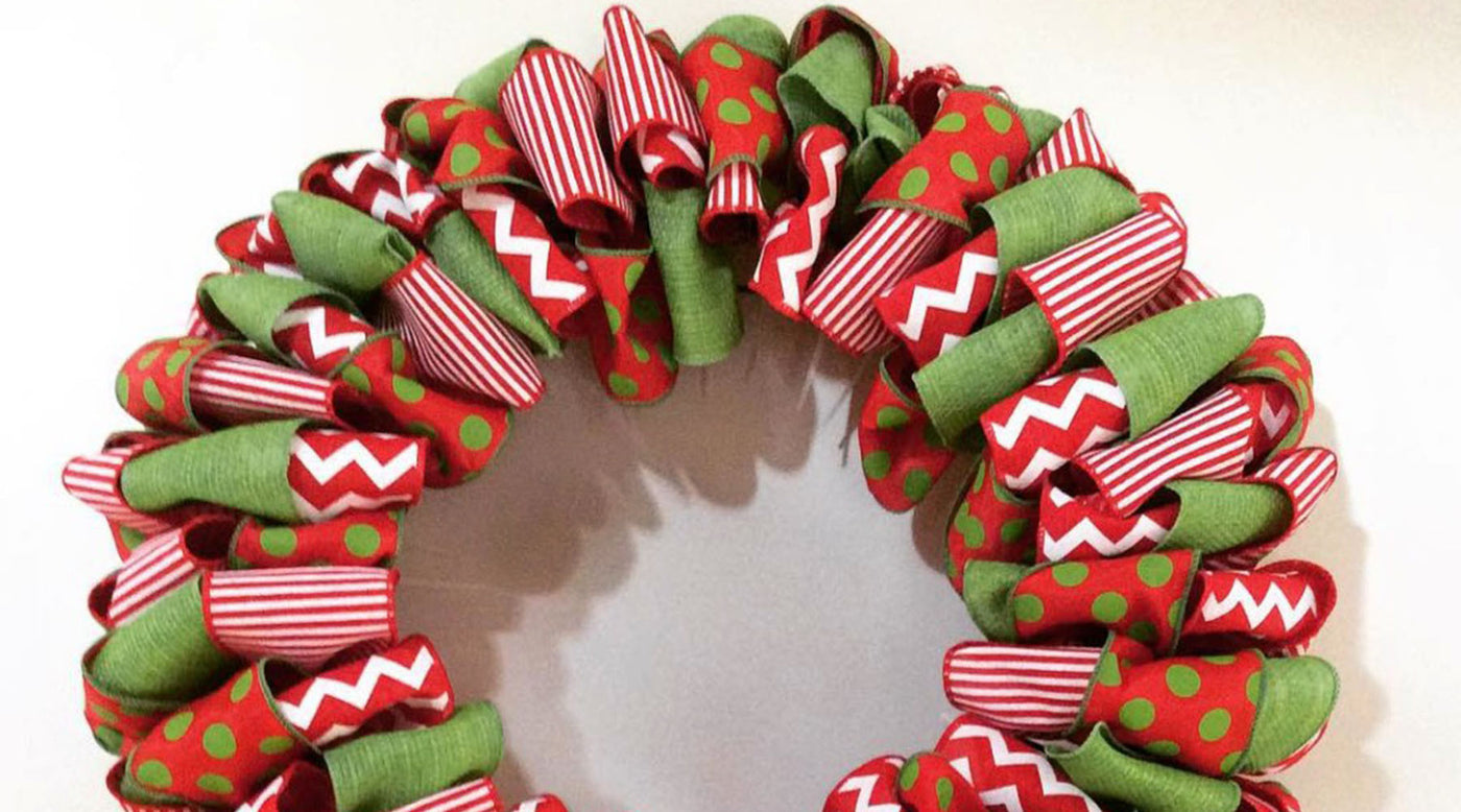 Christmas Ribbon Wreaths.How To Make A Ribbon Wreath My Christmas
