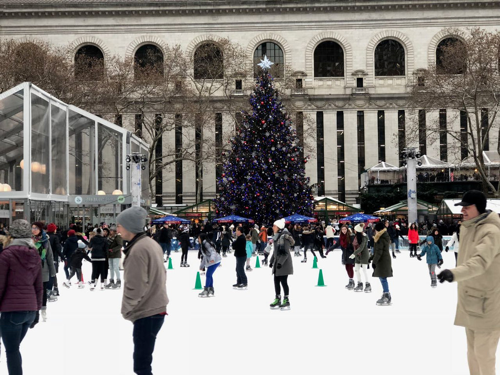Ice-skating is a staple activity over Christmastime in New York