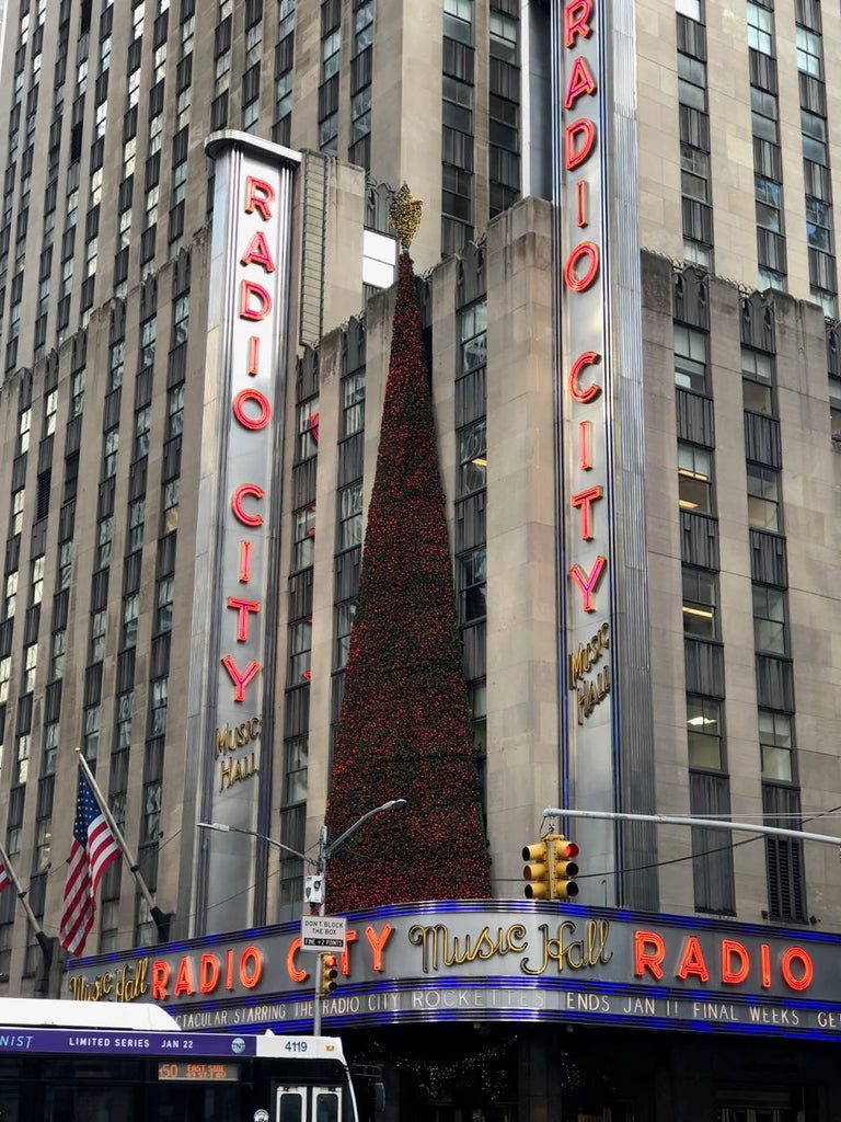 Radio City in New York City at Christmas