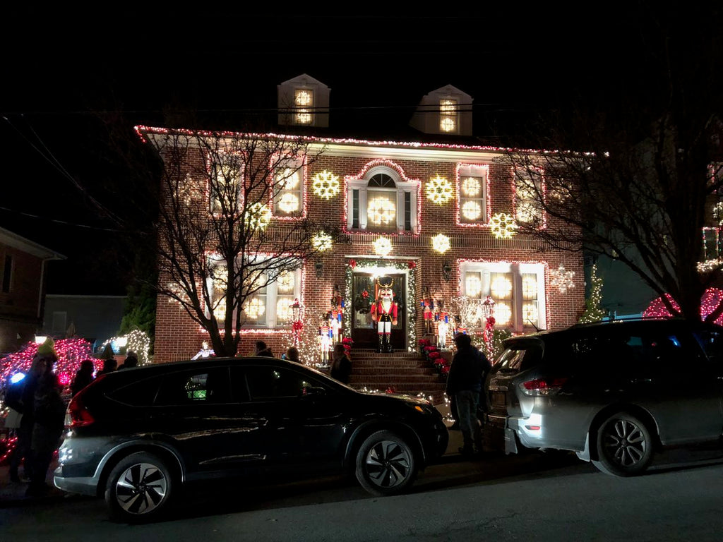 The Dyker Heights Christmas lights: A classic, old-school glamour colonial house