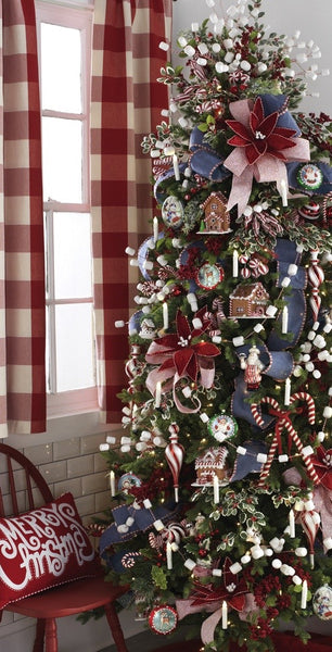 Peppermint Kitchen theme Christmas tree from Raz Imports