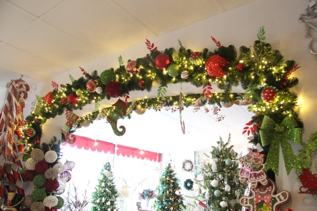 """My Christmas"" garland display in the 2014 Melbourne Christmas shop"