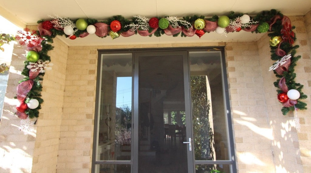 Christmas garland for the front door