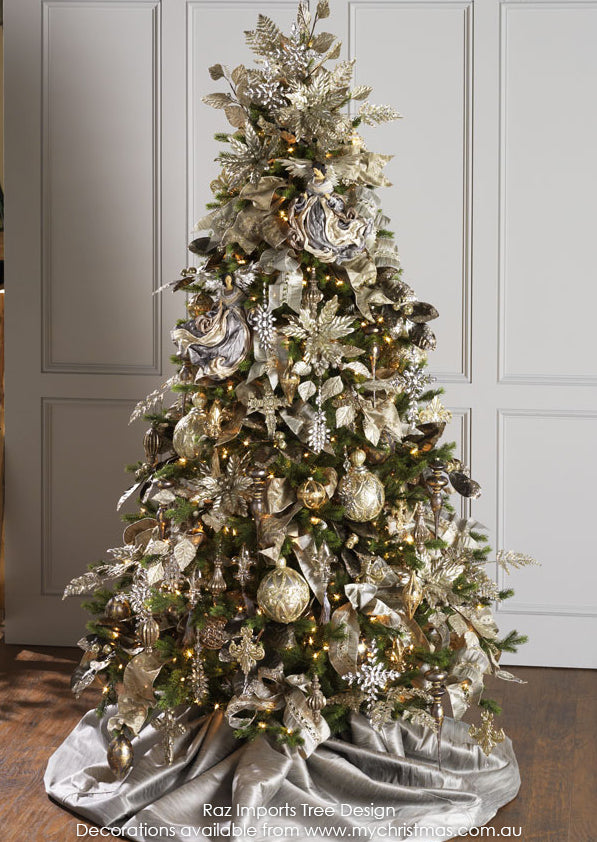 Raz Imports Christmas Tree theme for 2015, Gilded Grey