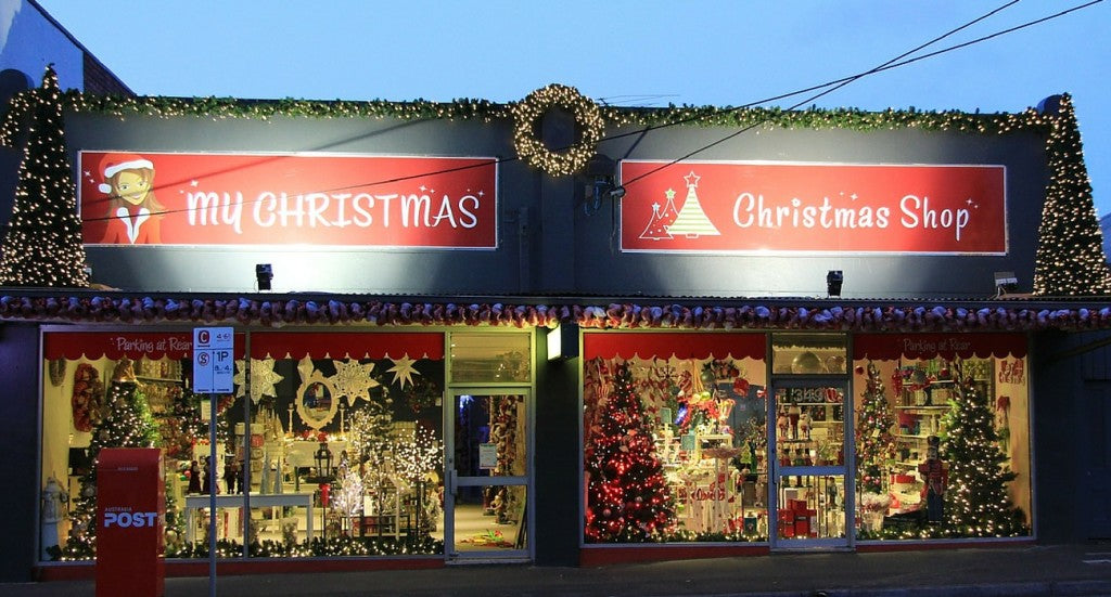 Front of My Christmas Shop in Surrey Hills Melbourne