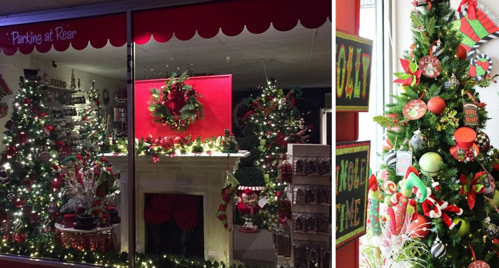 Christmas tree displays at My Christmas Shop in Surrey Hills Melbourne