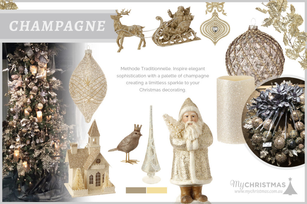 Christmas trend board for 2015 - Champagne