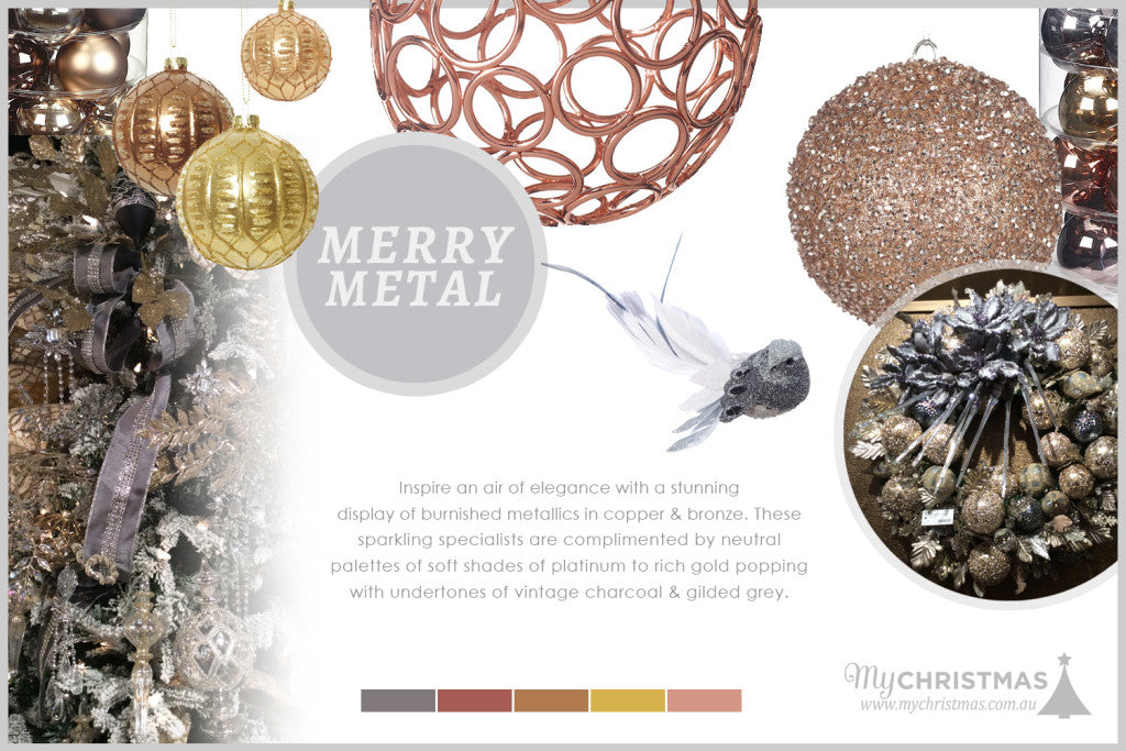 Christmas trend board for 2015 - Merry Metal
