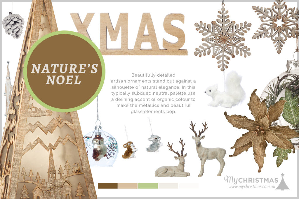 Christmas trend board for 2015 - Nature's Noel