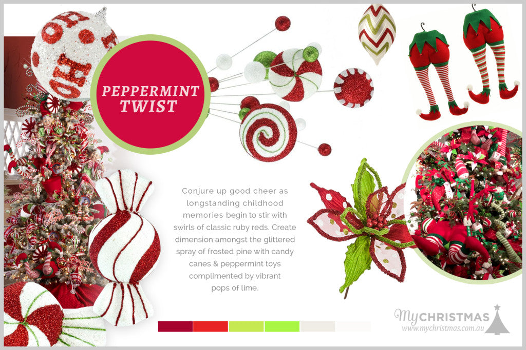 Christmas trend board for 2015 - Peppermint Twist