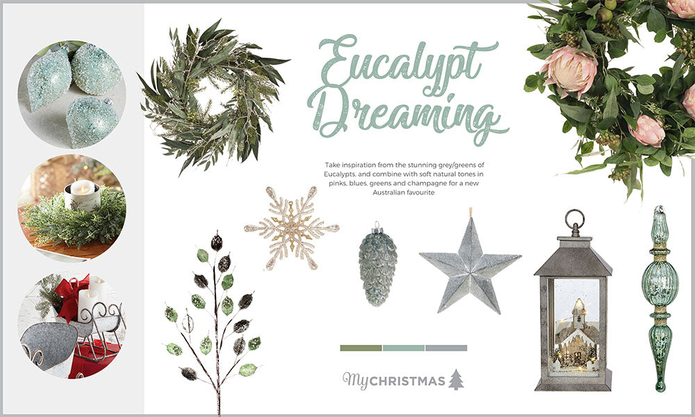 eucalypt dreaming we saw eucalyptus creep into christmas decorating last year and this year they are everywhere the tone is so elegant and works perfectly