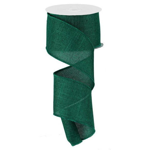 Emerald Green Burlap Ribbon