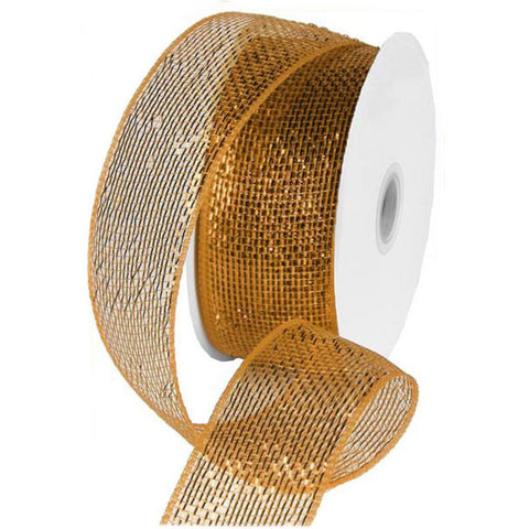 Gold/Brown Ribbon, 6cm