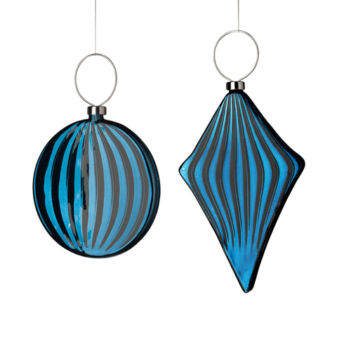 Blue/Black bauble Flat