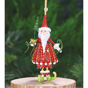 Dash Away Mini Dashing Santa Ornament 10cm