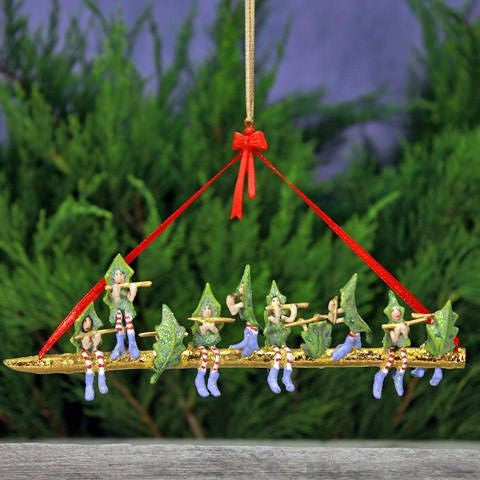 12 Days Medium - 10 Pipers Ornament