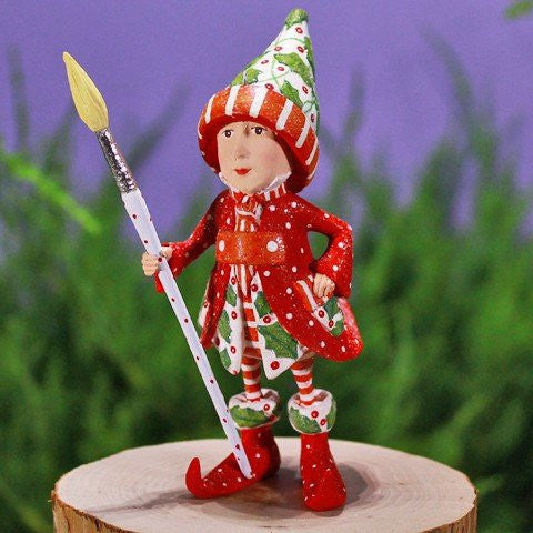 Vixen's Painter Elf Ornament 12cm