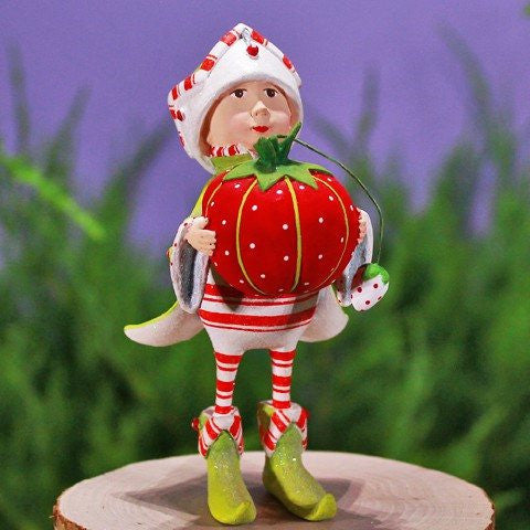 Prancer's Tailor Elf Ornament 12cm