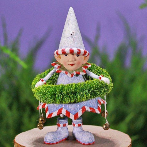 Dasher's Wreath Elf Ornament 12cm
