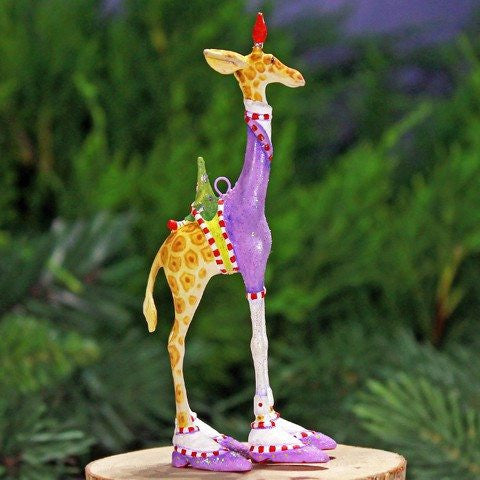 Mini George Giraffe Ornament 13cm