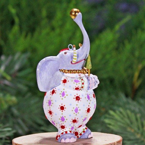 Mini Eleanor Elephant Ornament 9cm