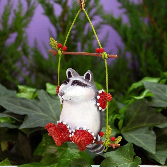 Huck Raccoon Ornament