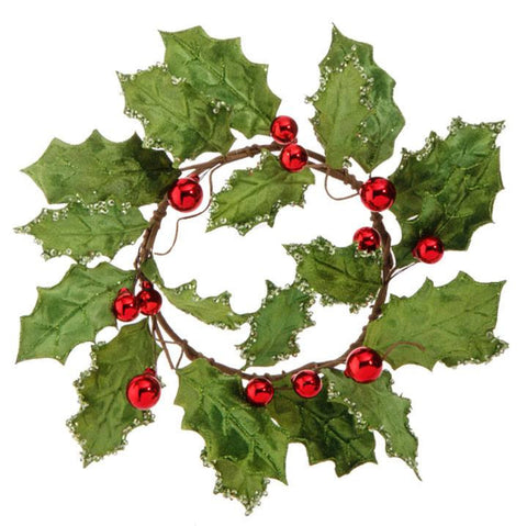 Holly Ball Candlering Red/Green