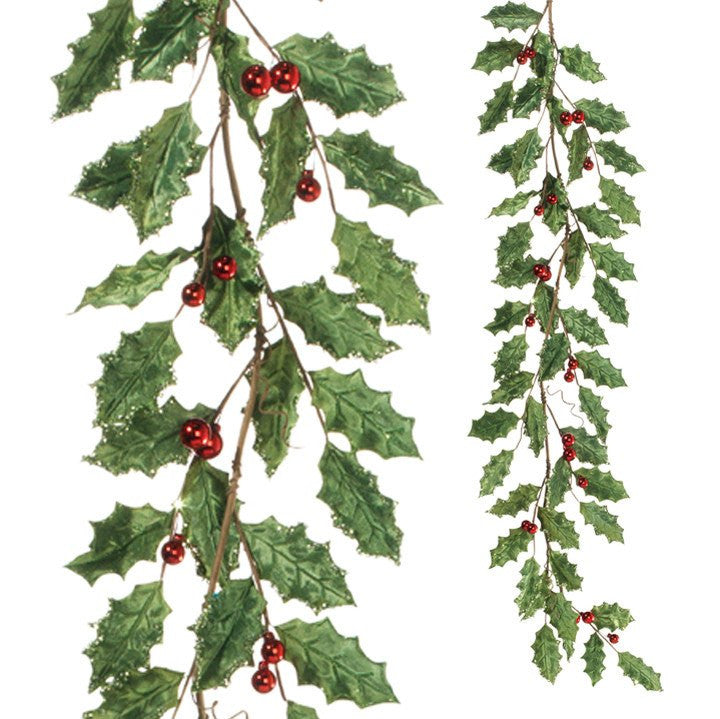 Holly Ball Garland Red/Green