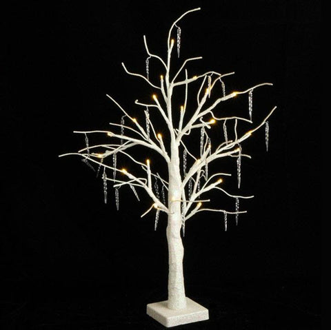 Lighted Icicle Tree White