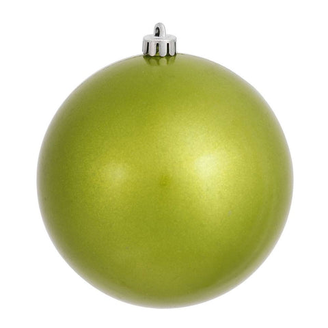 Lime 8cm Glitter Candy Bauble Pack