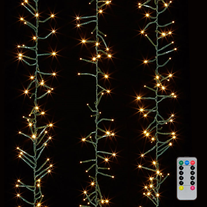 Led Christmas Lights Png.Cluster Warm White Lights 13m