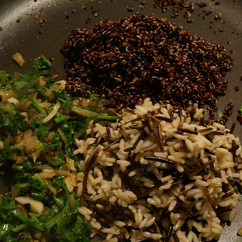 Baking Black Quinoa Rice and Cumin