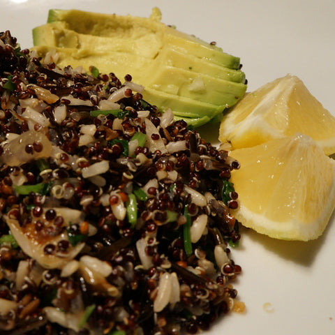 Black Quinoa with Rice and Avocado