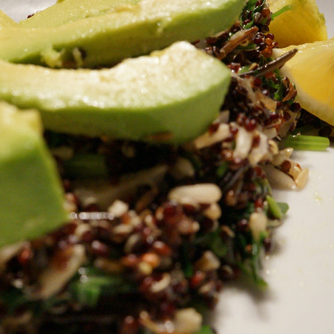 Black Quinoa with Avocado and Wild Rice