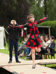 Petite Pearl Lowe Fashion Show Babington House Queen of Hearts